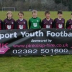 Pink Skip Hire Sponser Gosport Youth Football Club U11s